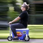 drunk driving on motorized beer cooler